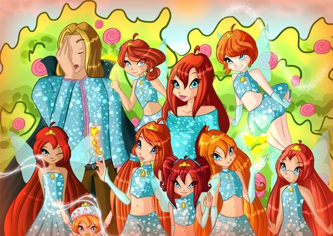 Скай, Блум и их дочки!