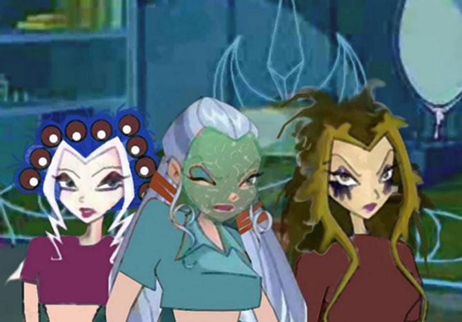 Прикол с Трикс: Сторми, Айси и Дарси.